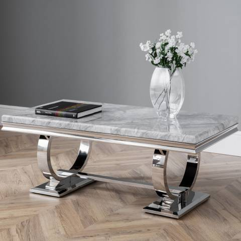 The Great Cabinet Company Philipe Faux Marble Coffee Table