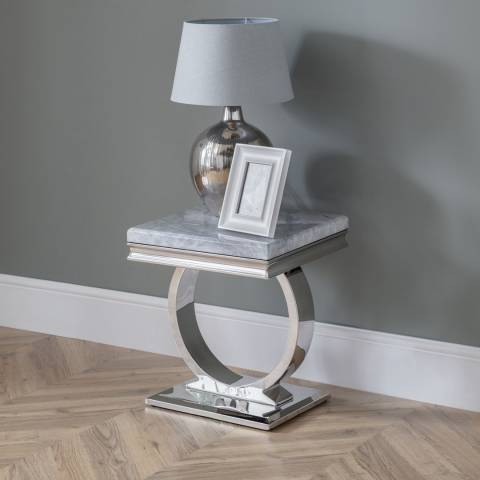 The Great Cabinet Company Philipe Faux Marble Lamp Table