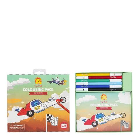 Tiger Tribe Supercars Colouring Pack
