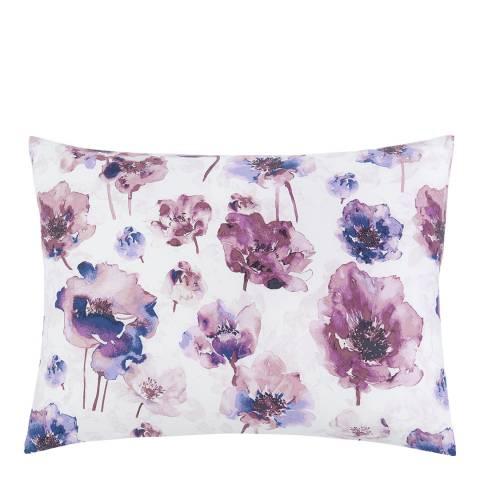 Calvin Klein Watercolour Bloom Pair of Pillowcases, Amethyst