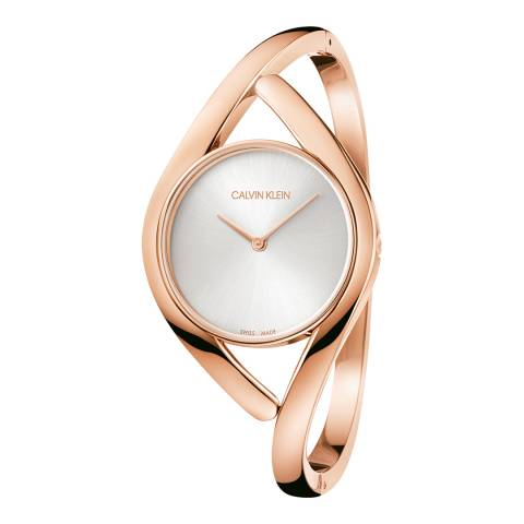 Calvin Klein Rose Gold Party Bangle Watch 28mm