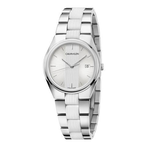 Calvin Klein Silver Contra Bracelet Watch 34mm