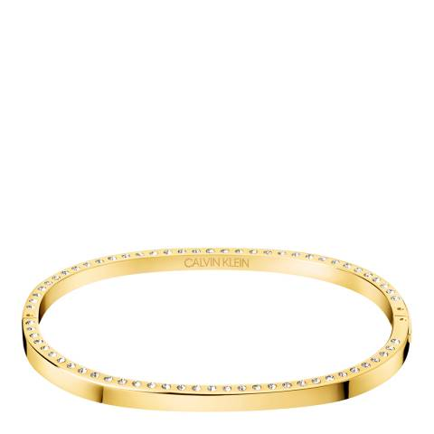 Calvin Klein Gold Crystal Hook Bangle