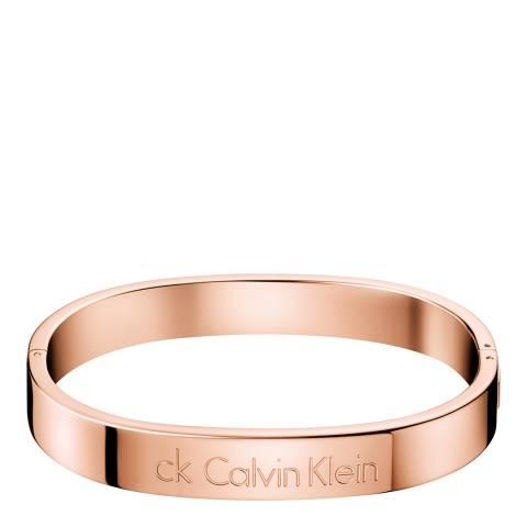 Calvin Klein Rose Gold Hook Closed Bangle S