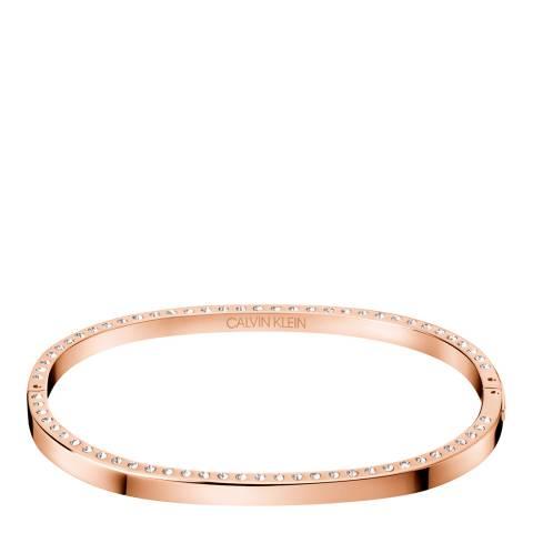 Calvin Klein Rose Gold Crystal Hook Bangle