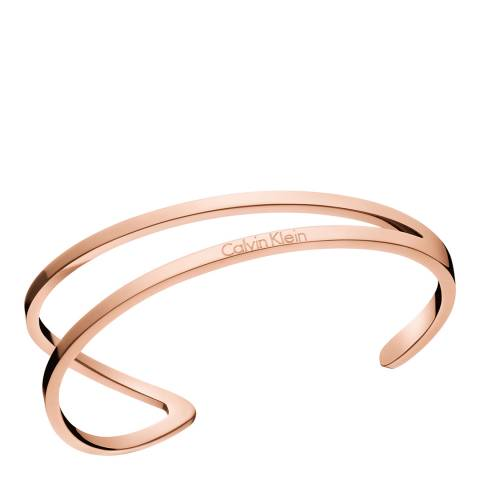 Calvin Klein Rose Gold Outline Open Bangle