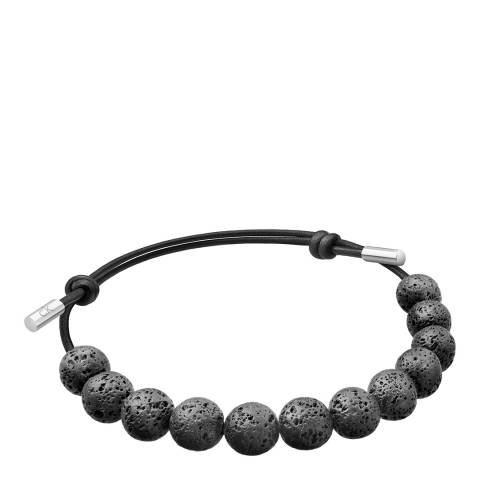 Calvin Klein Black Molten Rock Cord Bracelet