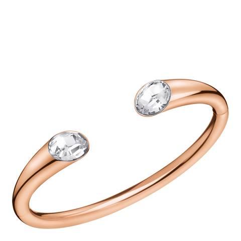 Calvin Klein Rose Gold Swarovski Open Cuff Bracelet