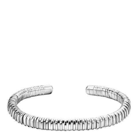 Calvin Klein Silver Open Spring Bangle