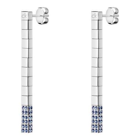 Calvin Klein Silver Blue Swarovski Tune Earrings