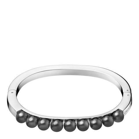 Calvin Klein Silver Grey Swarovski Pearl Circling Bracelet