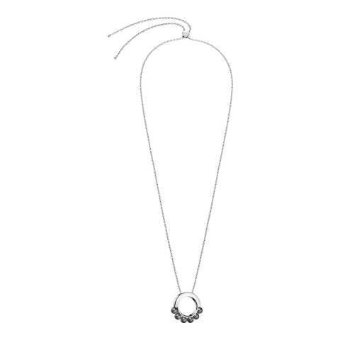 Calvin Klein Silver Grey Swarovski Circling Necklace