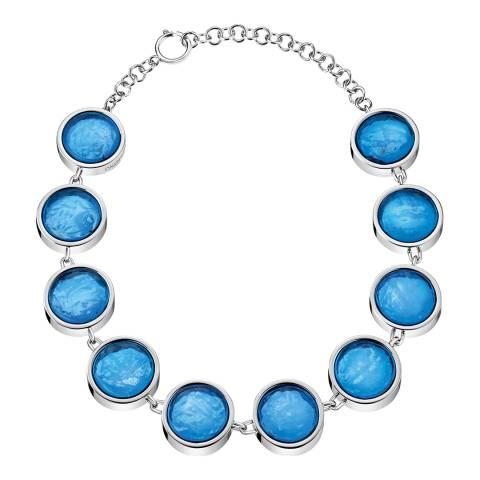 Calvin Klein Silver Blue Murano Short Necklace