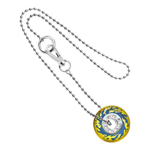 Calvin Klein Silver Yellow CKJ Spin Popsicle Necklace