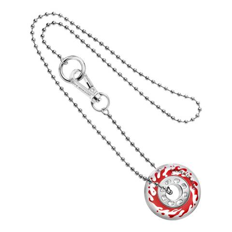Calvin Klein Silver Clear CKJ Spin Popsicle Necklace