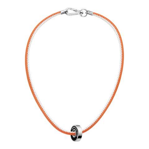 Calvin Klein Red CKJ Leather Short Necklace