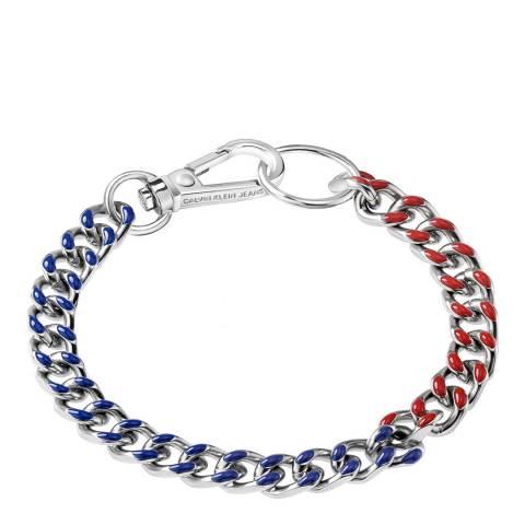 Calvin Klein Red Blue CKJ Thin Bracelet S