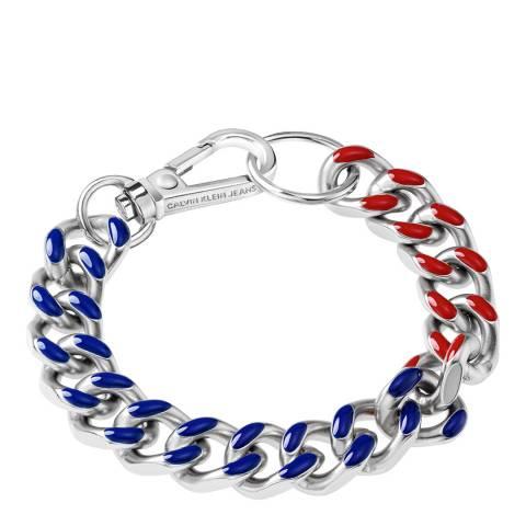 Calvin Klein Red Blue CKJ Thick Bracelet M