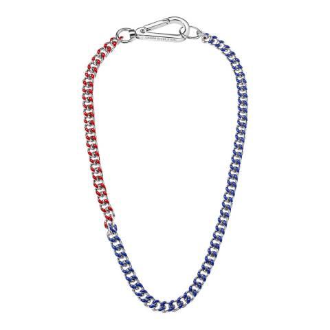 Calvin Klein Red Blue Thin CKJ Short Necklace