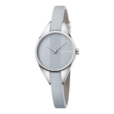 Calvin Klein Grey Rebel Leather Watch 29mm