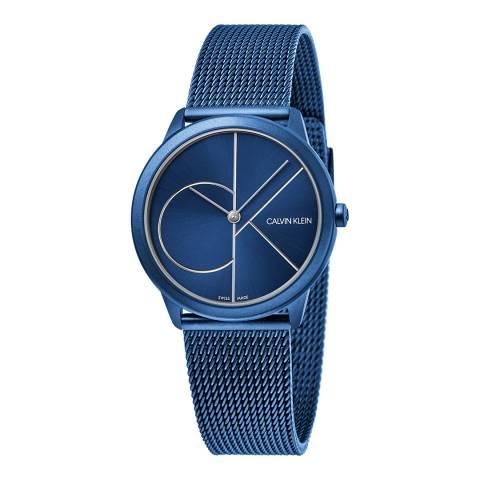 Calvin Klein Blue Minimal Mesh Watch 35mm