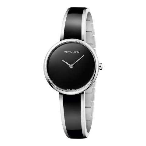 Calvin Klein Black Silver Seduce Bangle Watch 30mm