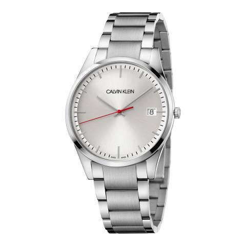 Calvin Klein Silver Crystal Time Bracelet Watch 40mm
