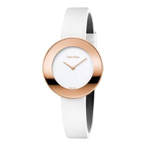 Calvin Klein White Rose Gold Chic Watch 38mm