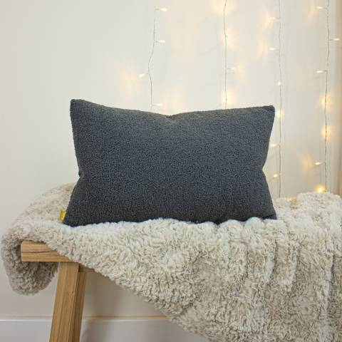 Evans Lichfield Malham 30x50cm Cushion, Granite