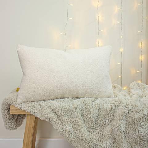 Evans Lichfield Malham 30x50cm Cushion, Ivory