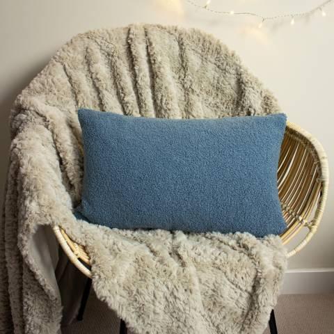 Evans Lichfield Malham 30x50cm Cushion, Wedgewood