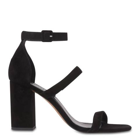 WHISTLES Black Hayes Leather Sandals
