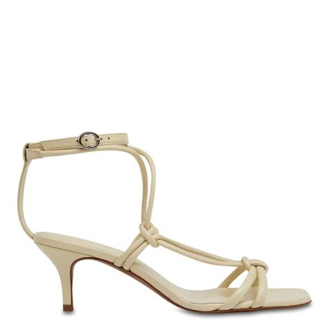 WHISTLES White Emely Leather Sandals