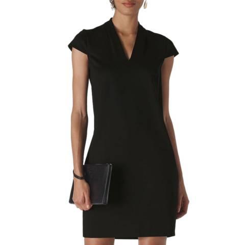 WHISTLES Black Ponte Jersey Paige Dress