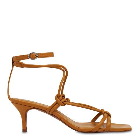 WHISTLES Rust Emely Leather Sandals