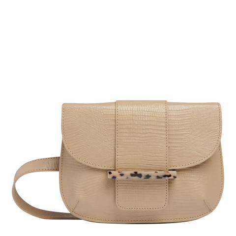 WHISTLES Taupe Mari Lizard Leather Belt Bag