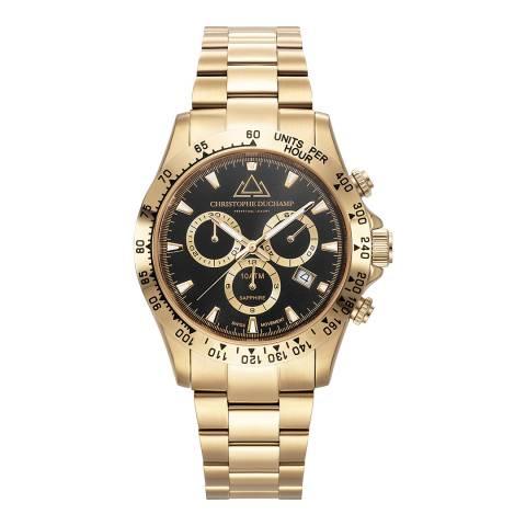 Christophe Duchamp Men's Gold/Black Swiss Watch