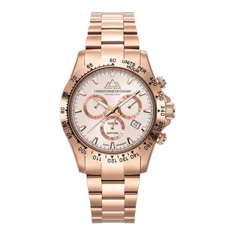 Christophe Duchamp Men's Rose Gold Swiss Watch