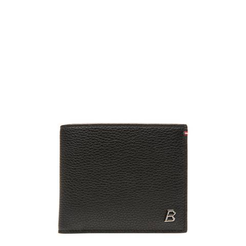 BALLY Black Metal B Oblique Wallet