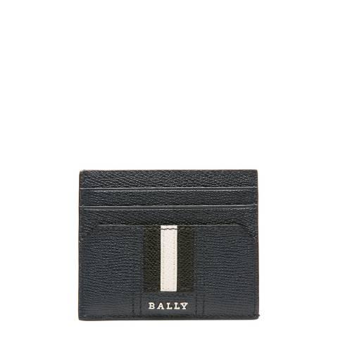 BALLY New Blue Lettering Business Card Holder