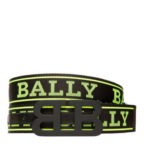 BALLY Black Yellow Iconic Reversible Belt