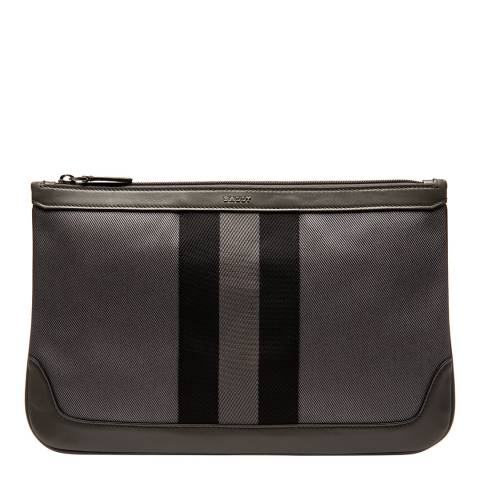 BALLY Anthracite Zurigo Structured Pouch