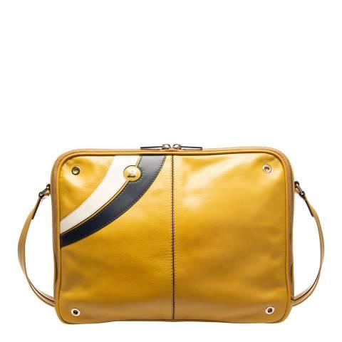 BALLY Gold Sand Supersmash Messenger Bag