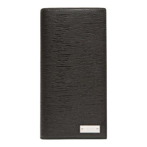 BALLY Black Logo Oblique Continental Wallet