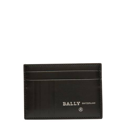 BALLY Black District Emboss Business Card Holder