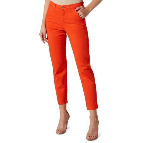 7 For All Mankind Red Modal Twill Stretch Chinos