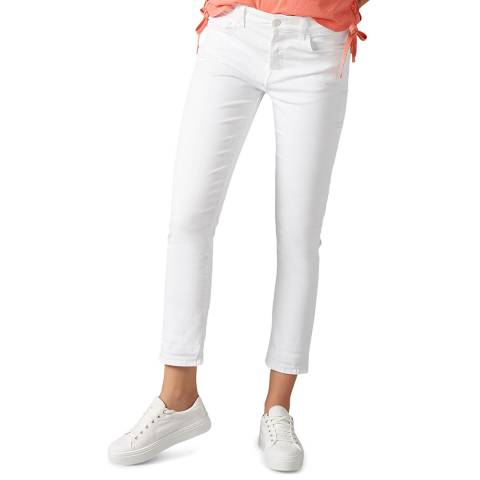 7 For All Mankind White Kimmie Straight Stretch Jeans