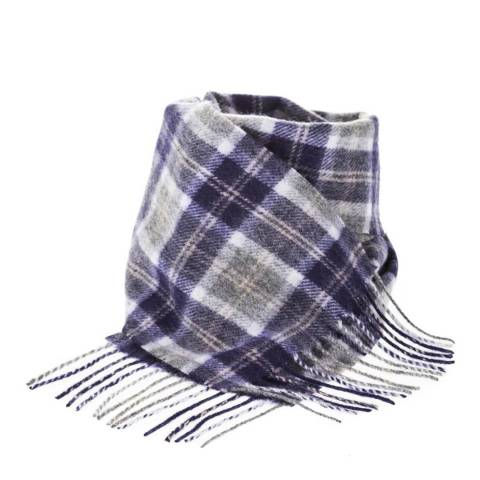 Edinburgh Lambswool Bannockbane Silver Mini Lambswool Scarf