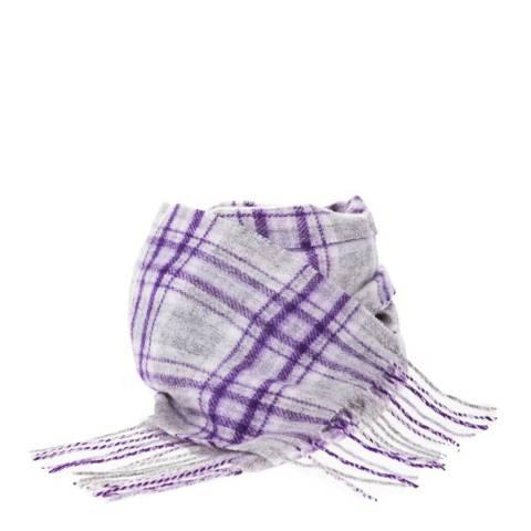 Edinburgh Lambswool Stewart Purple Mini Lambswool Scarf