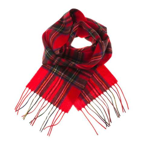 Edinburgh Lambswool Stewart Royal Mini Lambswool Scarf